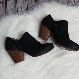 Dansko platform bootie heel black size 39